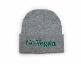 Go Vegan Beanie  ab4a0a13875