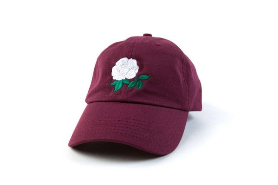 04f4e956bc9 Rose Hat Rose Dad Hat Rose Baseball Cap Embroidered