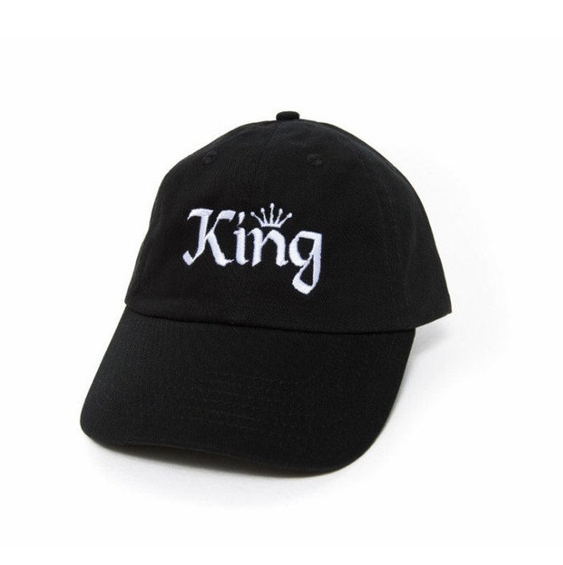 77317121f6a25 KING Hat King Baseball Cap Dad Hats Men King and Queen