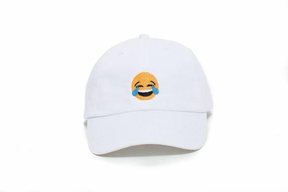 45a06e66291 Emoji Hat Emoji Tears of Joy Dad Hat Emoji Baseball Cap
