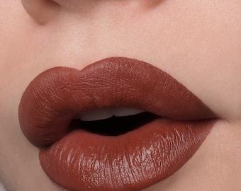 Untouchable - Deep  Burgundy Brown Silky Matte Liquid Lipstick