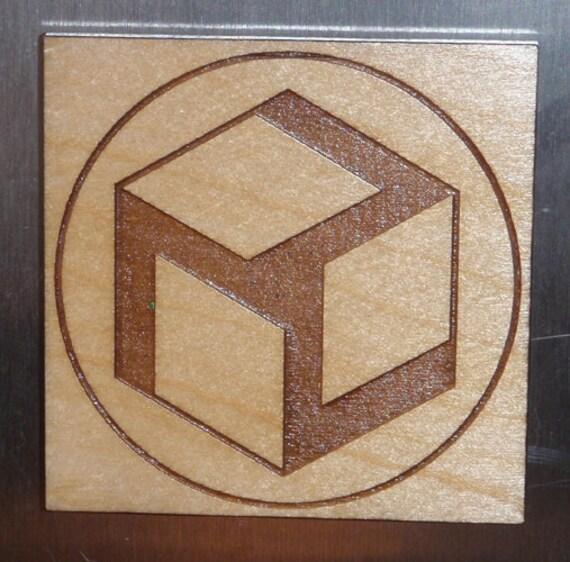 Wooden Antahkarana Healing Symbol Magnet Etsy