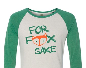 For Fox Sake Baseball Tee - Irish- st patricks day