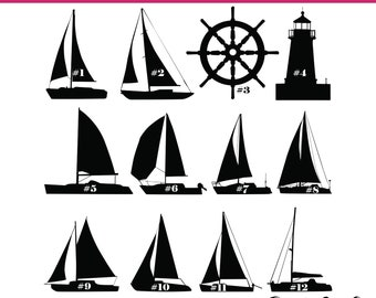 fe6e5c0729af21 Nautical Sailboat Decals   Many choices including Lighthouses and Wheels    Glitter and Pattern Vinyl Available   Sailing   Fast Shipping!!!