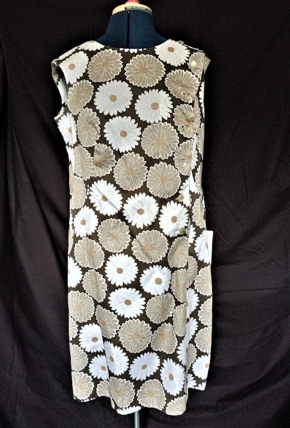 1960's Linda Leigh Dress Vintage Shift Dress, Side