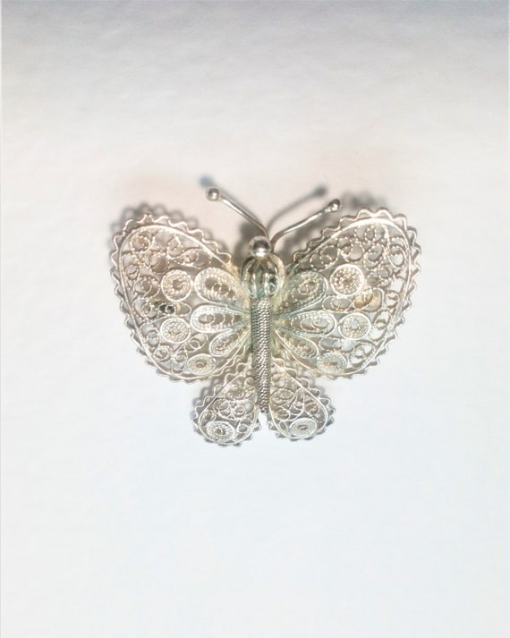 Antique Butterfly, Filigree Butterfly, Victorian B