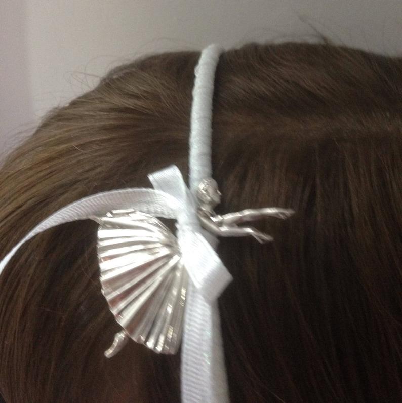 Bridesmaid Hair Band Vintage Silver Hair Band Silver Ballerina Child Hair Piece