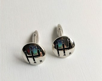 Vintage Gear Stick Cuff Links, Cuff Links, Vintage Wedding, Car Cuff Links
