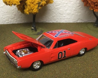ertl 1:64 The Dukes of Hazzard #01 general lee dodge charger diecast toy new,# 1208