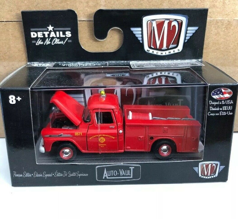 1958 Chevy Apache Brush Truck Limited Edition Fire Truck New I//64 Scale M2