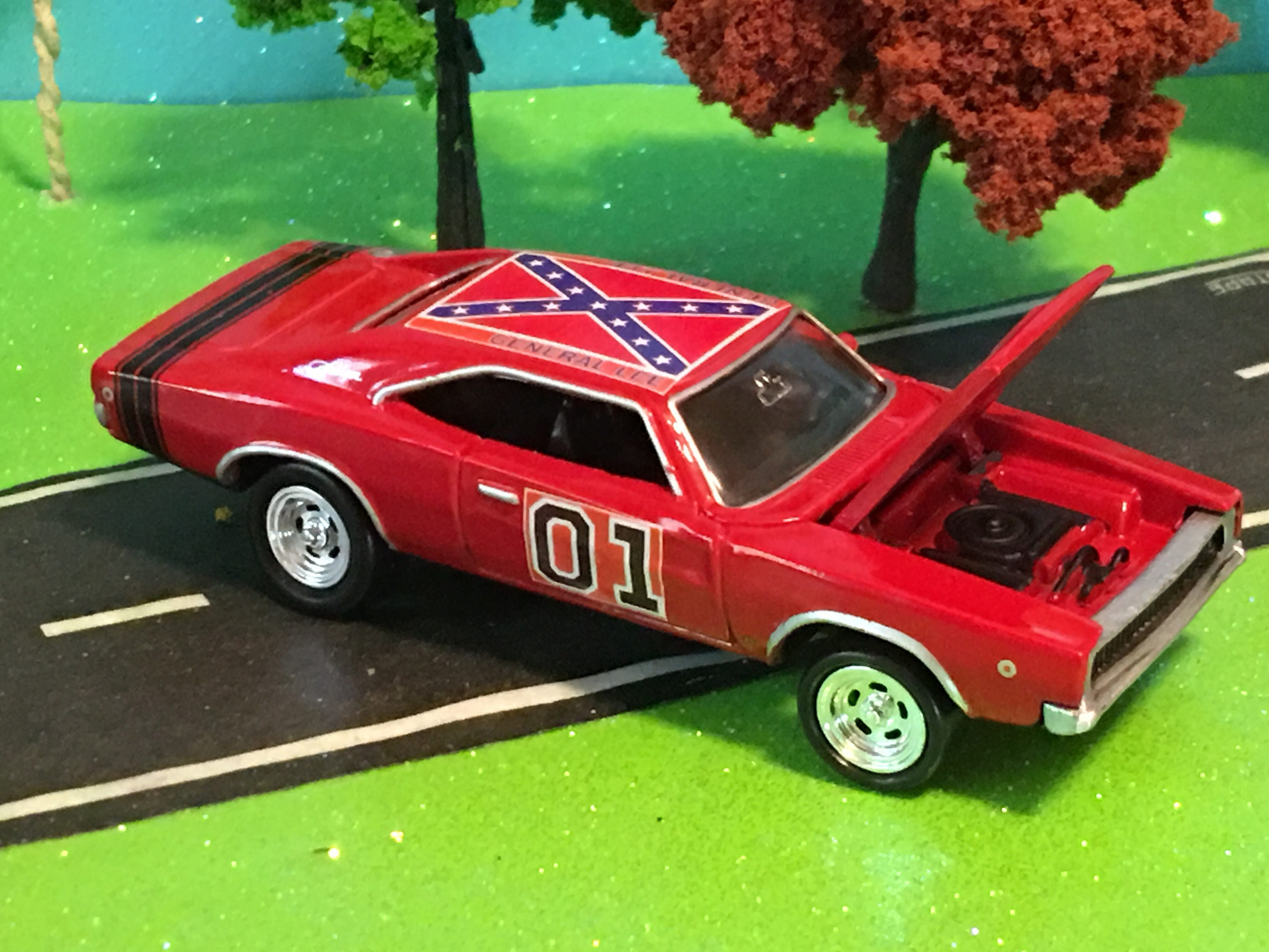 Dukes Of Hazzard Custom Car 01 General Lee 1968 Dodge Etsy Charger Image 0