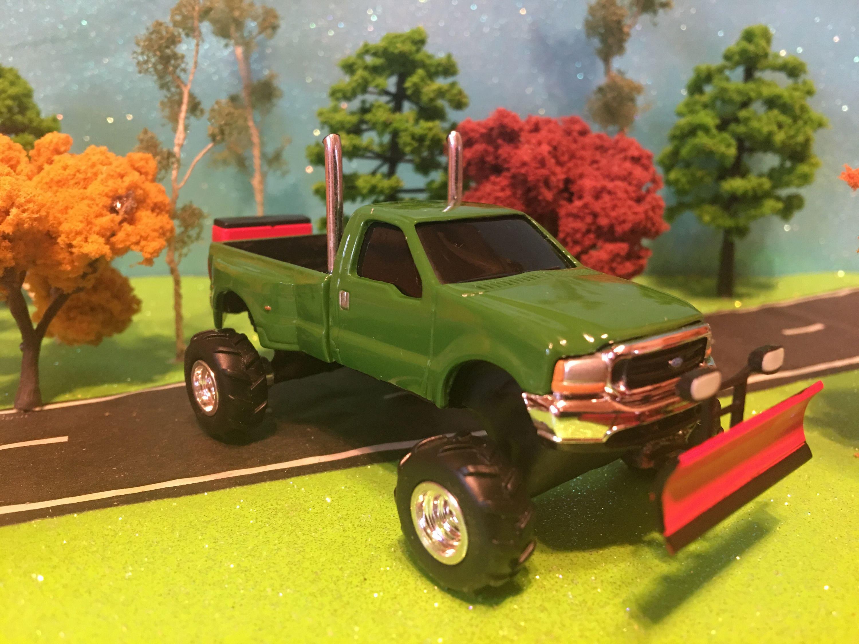 1 64 Scale Custom Lifted Ford F 350 Lariat Super Duty Farm Etsy Trucks Toy Truck Ertl