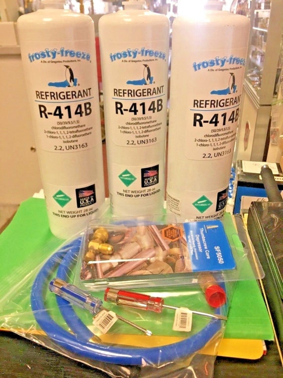 Replaces R12 R420A Hot Shot /& R500 R414B R401B R416A R409A R134a R401A