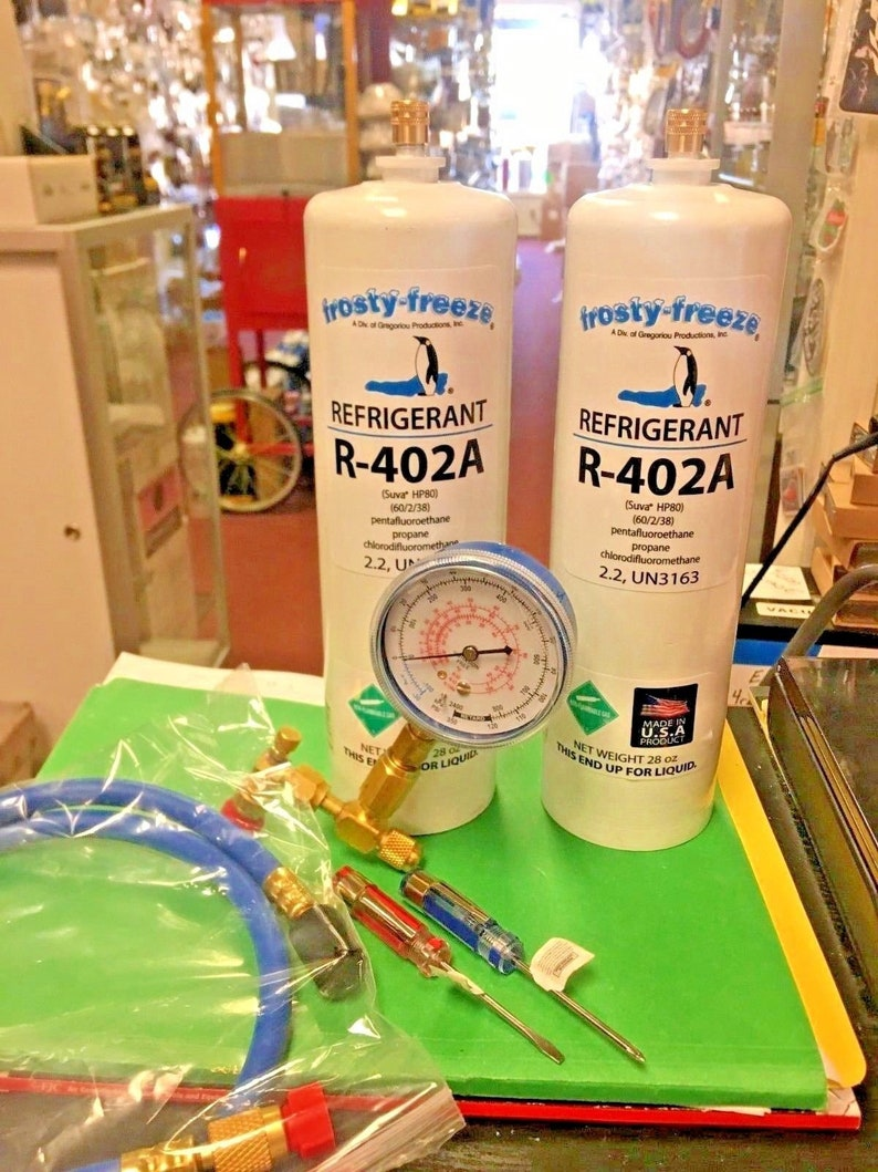R402a, HP80, Refrigerant, R402A, HCFC, R502, Alt , Thermo King (2) 28 oz   Tools