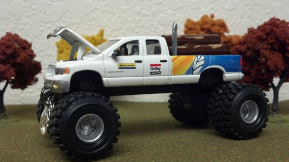 Custom Dodge Ram >> 1 64 Custom Lifted Dodge Ram 2500 Ertl New Holland Agriculture Farm Toy Tricked Out