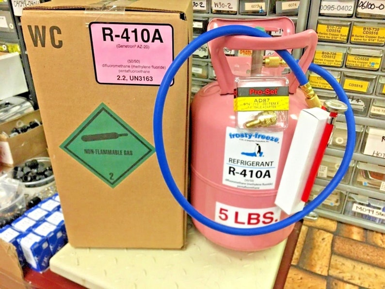 R410a, Refrigerant, 5 lb  Can, 410a, Best Value On eBay, Free Shipping,  Hose, Thermometer