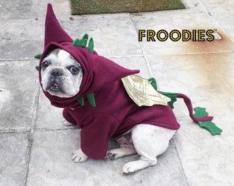 French Bulldog Boston Terrier Pug Dog Froodies Hoodies Costume Cosplay Maroon Dragon Fleece Jacket Sweatshirt Coat