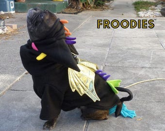 French Bulldog Boston Terrier Pug Dog Froodies Hoodies Costume Cosplay Rainbow Dragon Fleece Jacket Sweatshirt Coat