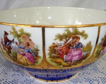 Rosenthal Bahnhof Selt Josef Kuba Chippendale Set of 4 Fragonard Porcelain Dessert or Salad Plates Courting Couples