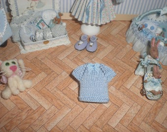 Dollhouse miniature 1/12. Jersey for boy or girl.
