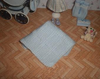 Dollhouse miniature 1/12. Baby shawl