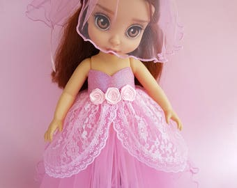 Disney Animator Dolls Clothes. Doll clothes for Disney Animator 16'  Dress end bow.