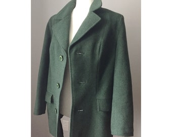 Vintage '90s Forest Green Wool Coat