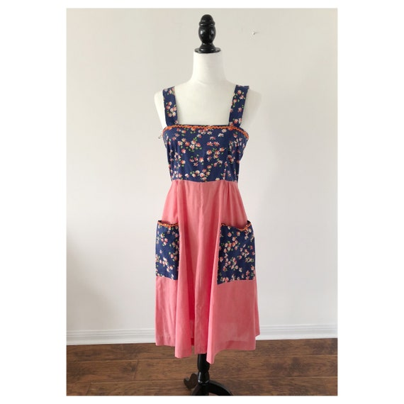 1970s Apron Dress