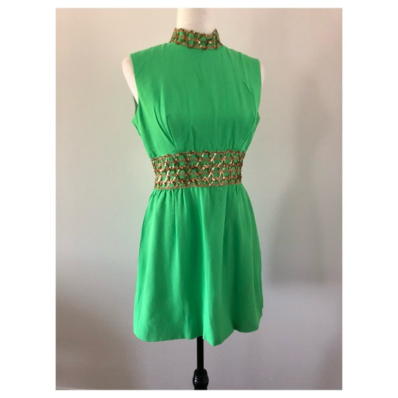 1960's/1970's Lime Green Party Dress