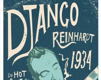 Django Reinhardt by Elliot Griffin Limited Edition Print