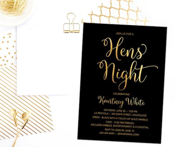 Henne Nacht Einladung druckbare Hühner Nacht Einladung