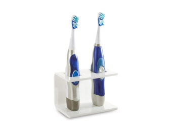 Rac It Up Caddy - Square - Toothbrush Holder for Battery & Electric Powered Toothbrushes