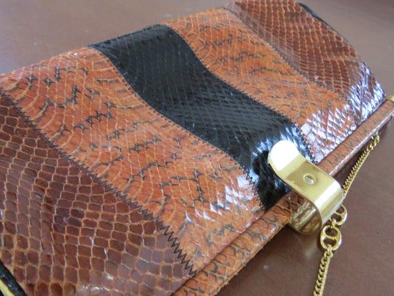 8601aea0b1d84c Women Vintage Handbag Genuine Snake Python Real Leather | Etsy