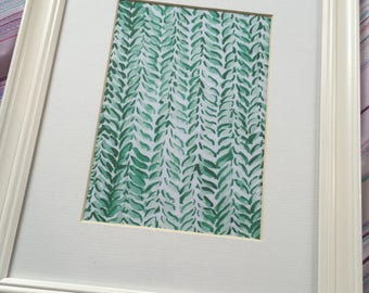 Printable Watercolour Print - Knitted Green