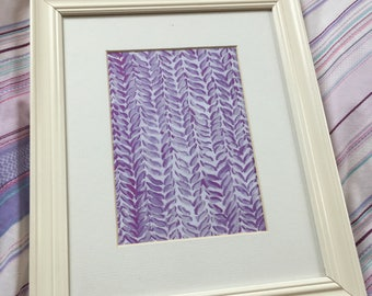 Printable Watercolour Print - Knitted Purple