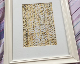 Printable Watercolour Print - Knitted Sepia