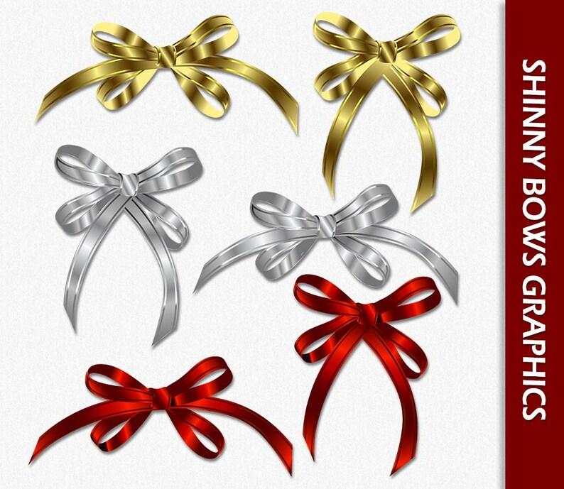 Weihnachtsgeschenke Clipart.Glänzende Bögen Weihnachtsgeschenke Clip Art Bunte Bögen Graphics Gold Silber Rot Clipart Scrapbook Digitaler Download Png Vektor