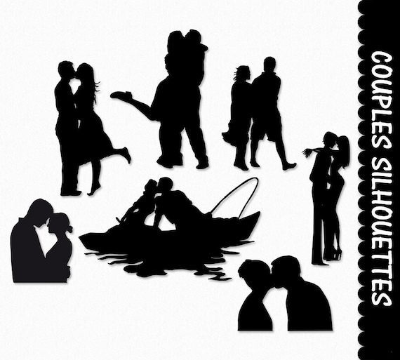 Couples In Love Clip Art Pairs Clipart Graphic Scrapbook Etsy