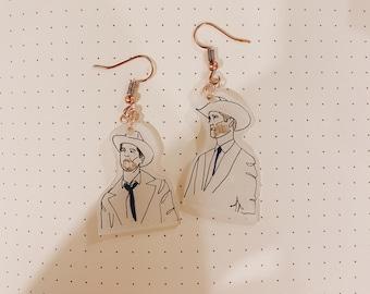 Dean and Cas Cowboy Earrings