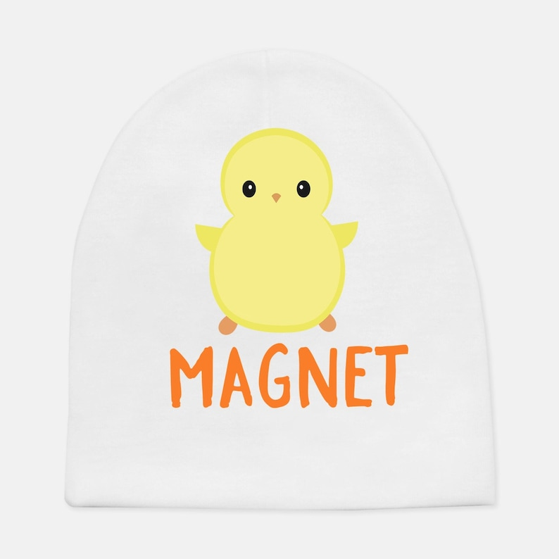 infant unique nephew cute gender reveal baby shower son Chick Magnet hat- baby boy beanie baby gift Christmas funny