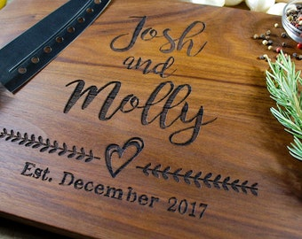 Cutting board 56 Personalized wedding gift wedding gift for couples Bride and Groom housewarming gift engagement gift