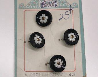 Vintage Flower Fashion Buttons
