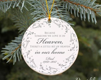 because someone we love is in heaven ornament personalized christmas ornament in memory of ornament memorial ornament dad in heaven gift