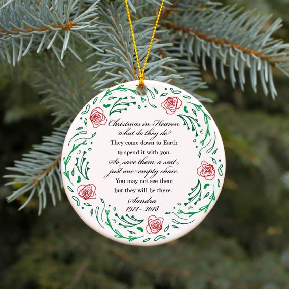 Christmas In Heaven Ornament.Christmas In Heaven Ornament Personalized Christmas Ornament In Memory Of Ornament Memorial Ornament Because Someone We Love Is In Heaven