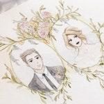 Custom illustration wedding, Wedding illustration, Couple Portrait,  Couples Portrait, Wedding Drawing, Bride Groom Drawing, Family Portrait