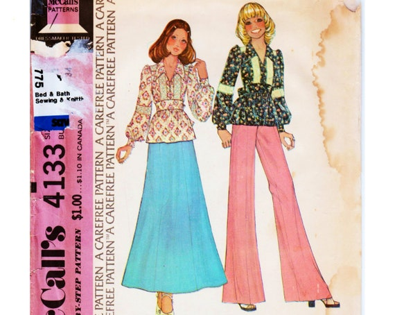 Bell Bottom Pants Hippie Pants Pattern Boho Top Pattern Hippie Etsy