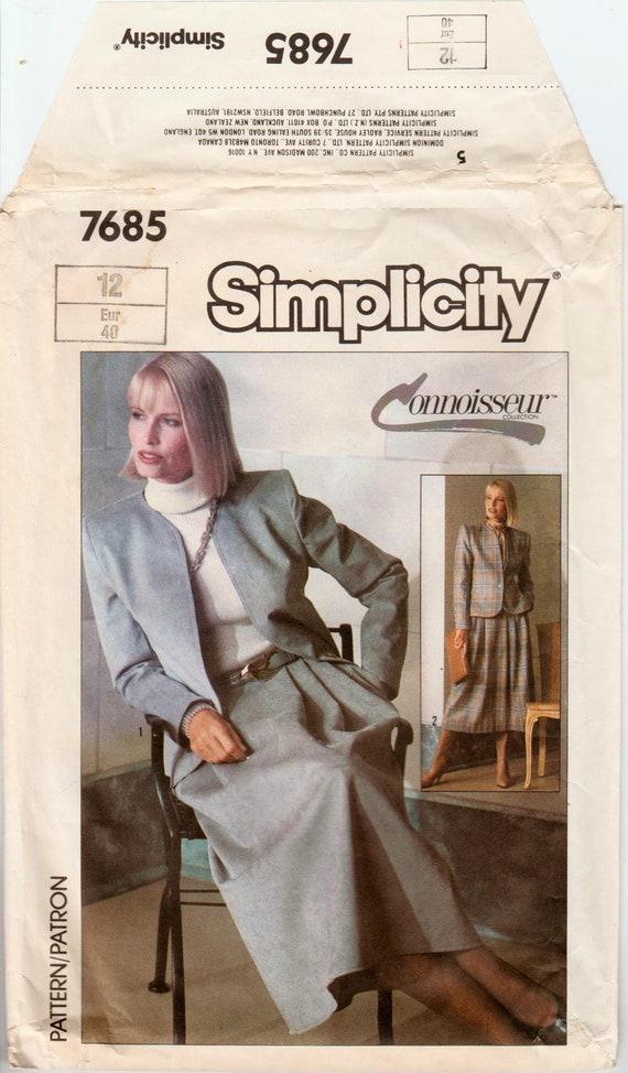 Skirt Suit Pattern Womens Suit Career Suit Simplicity 7685 Etsy