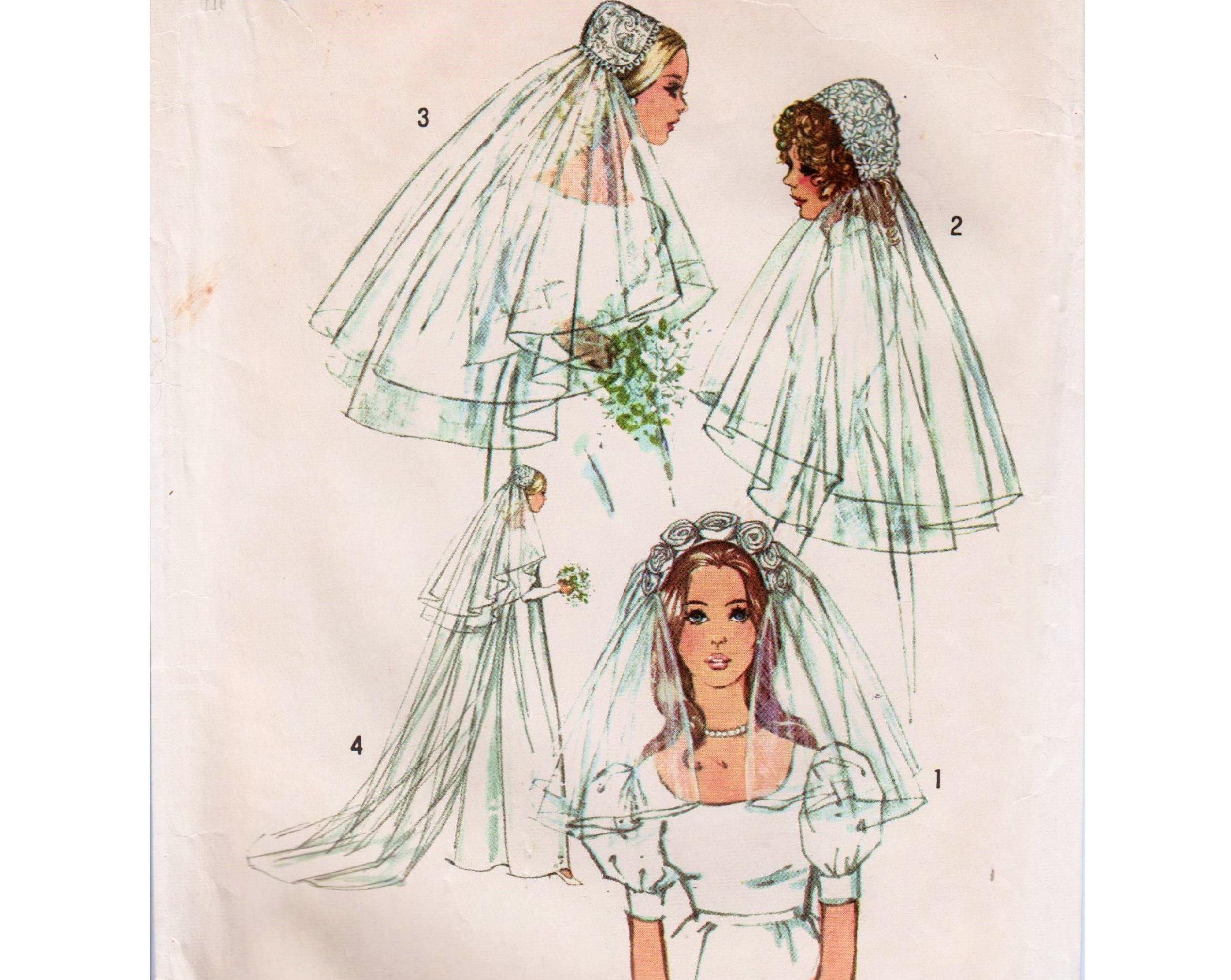 Hochzeit Schleier Brautschleier Muster Juliet Cap Muster