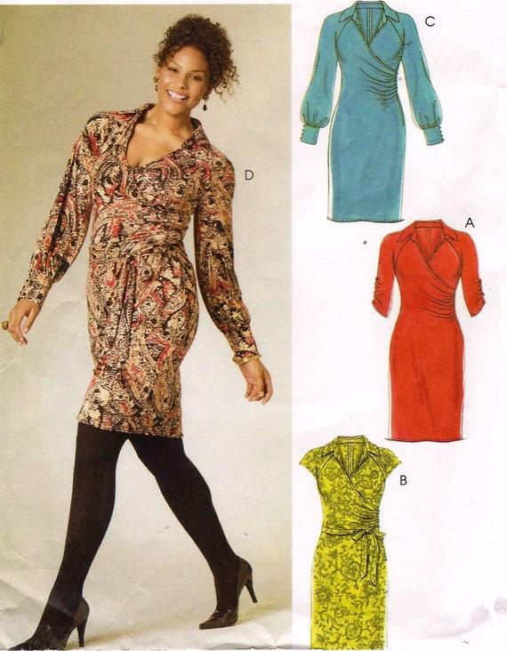 Plus Size Dress Plus Size Pattern Bodycon Dress Mccalls M6163 Etsy
