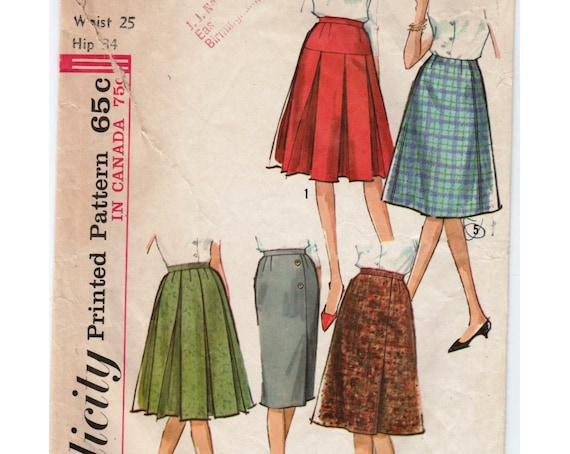 40s Skirt Pattern Pleated Skirt SIMPLICITY 40 W 40 H 40 Etsy Beauteous Pleated Skirt Pattern